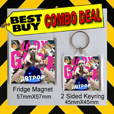 LADY GAGA - ARTPOP- COMBO DEAL -KEYRING AND FRIDGE MAGNET - CD COVER 1