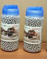HIGH GRADE BB Gun Pellets Ammo 6 mm 0.12 g Airsoft Bullets silver 2 x 2000