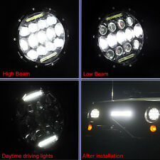 "1PC 7"" 75W Phillips LED Headlight DRL For Jeep Wrangler TJ JK & Harley Davidson"