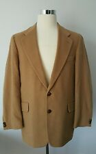 di Benedetto Blazer Sport Coat Men's 42R Two Button Wool Camel Hair Light Brown
