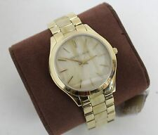 NEW MICHAEL KORS Ladies' MK4285 Horn & Gold Toned St. Steel Analogue Watch