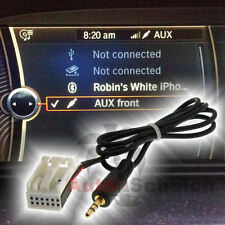 Aux en adaptador cable para bmw e60 e61 e63 e64 mp3 iPhone radio Navi Professional