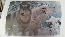 """ROD LAWRENCE """"BREATH OF WINTER - Timber Wolves"""" Limited Edition signed/numbered"""