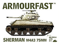 Armourfast 99014 1:72 WWII USA Sherman M4A3 75mm Tank (2 Models)
