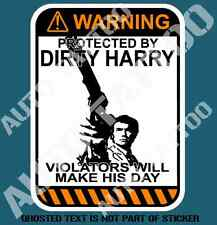 DIRTY HARRY WARNING DECAL STICKER CAR TRUCK VAN TOOLBOX TOOLS DECALS STICKERS