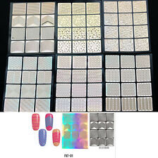 12Tips New Stamp Sticker Guide Tools Beauty Nail Stencil Stamping One Sheet #HO