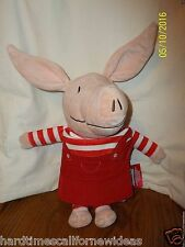 "14"" OLIVIA THE PIG ZOOBIES Cloth Story Book Soft Plush"