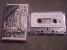 VERY RARE October Knows DEMO CASSETTE TAPE 1991 UNRELEASED Cats in the Cradle CA