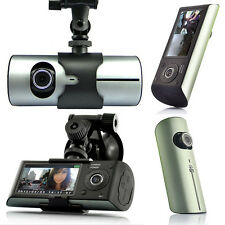 Must Have! HD Car DVR DualCam (Front+Rear) Driving Recorder Dash Cam GPS Support