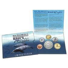 New listing New Zealand 2010 Maui's Dolphin Brilliant Uncirculated 6 Coin Set!