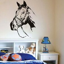Removable Horse Head Vinyl Wall Decal Self Adhesive Home Decorative Art Sticker
