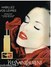 Publicité Advertising 1995 Cosmétique maquillage Yves Saint laurent