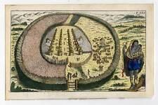 Afrika-Kraal-Kral-Dorf-Ethnologie-Kupferstich 1800 G. T. Wilhelm