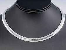 USA Seller Italian Omega 8mm Necklace Sterling Silver 925 Best Deal Jewelry 18""