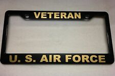 Military License Plate Frame, Polished ABS-VETERAN/ U.S. AIR FORCE-842329G