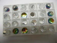 8 swarovski crystal 3/4 flatback disco balls,14mm vitrail medium Z #4869