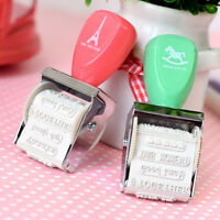 Rubber Stamps For Card Making Roller Stamp DIY Project Words and Stamps DS