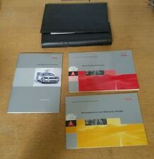 AUDI A3 8P Owners black leather handbook wallet holder+manuals #oc2