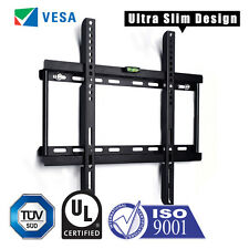 SLIM TV WALL BRACKET MOUNT FOR PLASMA LED LCD 3D 26 32 34 37 40 42 46 48 50 55""
