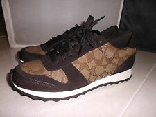 NEW COACH MASON  WOMENS  FASHION SNEAKERS SHOES SIZE 7.5   KHAKI/CHESTNUT