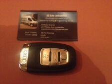 UNLOCKED GENUINE 868 mhz AUDI 3 BUTTON REMOTE SMART KEY AND UNCUT KEY BLADE
