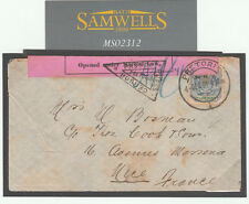 MS2312 1901 Transvaal France Boer War Thomas Cook opened under martial law pink