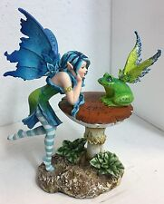 Amy Brown Mystical Fairy Faery Gazing Enchanted Frog Collection Statue Figurine
