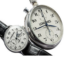 *jcr_m* LONGINES HONOUR AND GLORY SET OURO BRANCO 18KT *EXCELLENT*