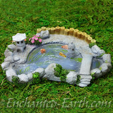 New Vivid Arts Miniature World - Japanese Miniature Garden- Koi Pond -13cm