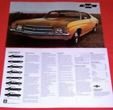 lot of 2 1971 71 Chevy Chevelle original sales brochure posters