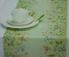 Ideal Home Range Table Runner Spring Breeze Floral Green Cellulose Germany NEW