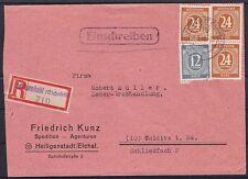 Alliierte Besetzung Mi Nr. 925 (3), 920 MiF auf R-Brief Heiligenstadt - Colditz
