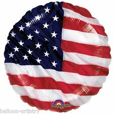 "Sports USA AMERICA Stars Stripes Flag Party 18"" Foil Helium Balloon American"