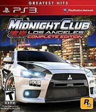 COMPLETE Midnight Club: Los Angeles (Sony PS3)