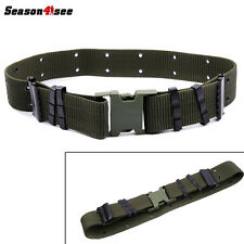 Military US Army Heavy Duty Surplus Pistol Web Utility Belt equipment Olive Drab