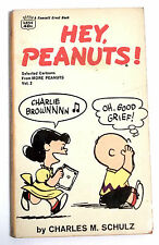 HEY, PEANUTS ! -  CHARLIE BROWN - By CHARLES M. SCHULZ - A FAWCETT CREST BOOK