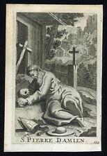 santino incisione 1700 S.PIER DAMIANI schouten
