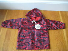NEW Hatley wild & cozy buffalo check RAIN COAT jacket moose bear 12 18 mo hunt