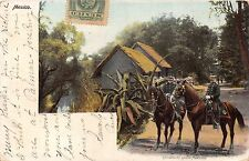 MEXICO~OFFICIALES del EJERCITO MEXICANO~ARMY OFFICERS POSTCARD 1905 PSTMK