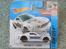 Hot Wheels 2015 #049/250 FORD MUSTANG GT CONCEPT white sheriff HW CITY Case Q