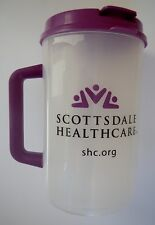 Plastic Insulated Purple Scottsdale Healthcare Thermo 30oz Mug Lid Straw