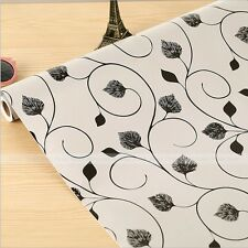 "Black Floral Self-adhesive Contact Paper Shelf Drawer Liner Peel & Stick 17""x78"""