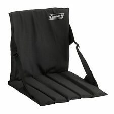 Stadium Seat Coleman Chair Sports Folding Camping Cushion Portable Black