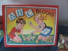 Eichorn vintage ABC blocks West Germany with uncut sheets & case