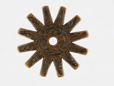 Western Cowgirl Decor Antique Copper 12 Point Spur Rowel Concho Adapter