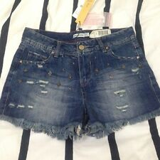 Stradivarius Distressed Denim Shorts with Beading size 24 - 25
