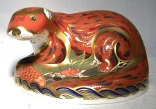 ROYAL CROWN DERBY PAPERWEIGHT OTTER