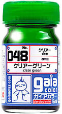 GAIA COLOR LACQUER 048 Clear Green GUNDAM MODEL KIT PAINT 15ml NEW