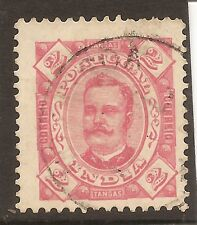 1895-96 Portuguese India Portugal Af#144UH D.Carlos Perforation 11.5