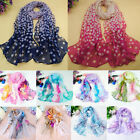 Summer Autumn Women Long Soft Chiffon Voile Scarf Wrap Shawl Stole Scarves Gifts